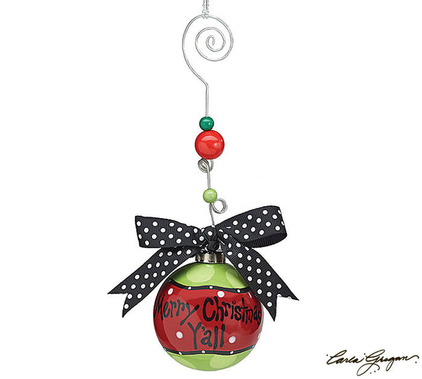 Burton & Burton Merry Christmas Y'All Ornament - ArtsiHome