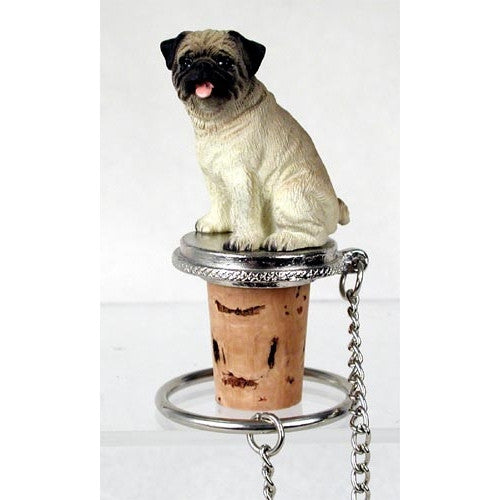 Pug Brown Wine Bottle Stopper - ArtsiHome