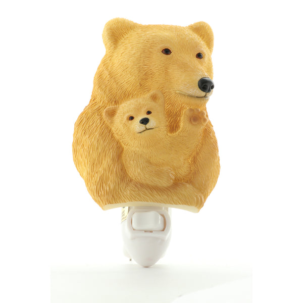 Bear & Cub Night Light, Ibis & Orchid Nightlights, NIB, 50190 - ArtsiHome