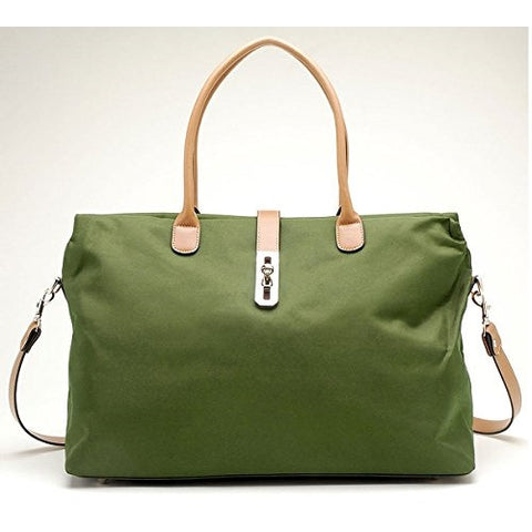 Oversized Tosca Tote Handbag (Hunter Green) - ArtsiHome