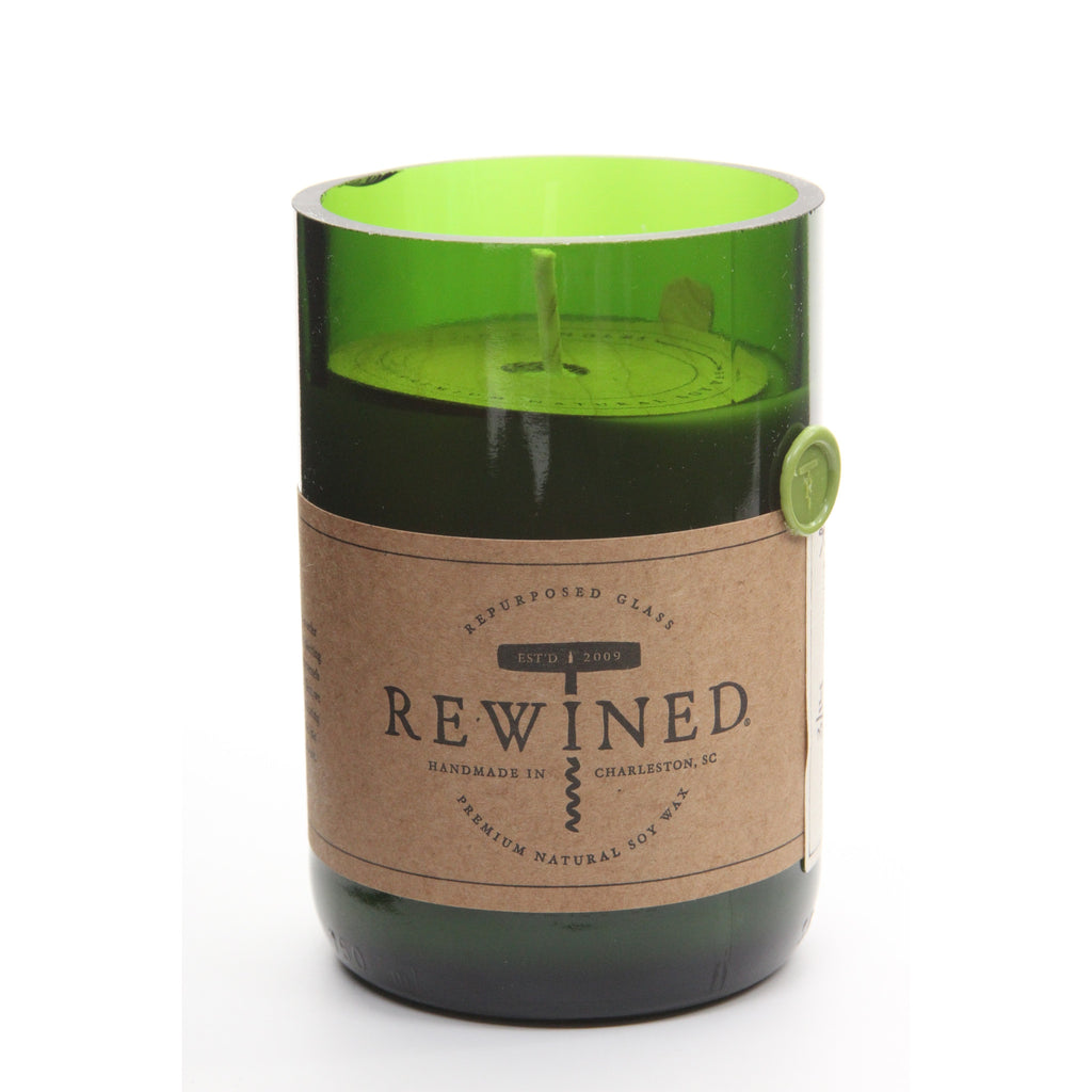 Recycled Wine Bottle 60-80 Hour Soy Wax Candle - Sauvignon Blanc - ArtsiHome