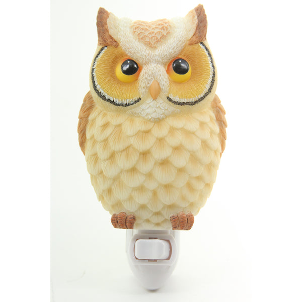 Hoot Owl Night Light - Ibis & Orchid Designs Flowers of Light Collection - ArtsiHome