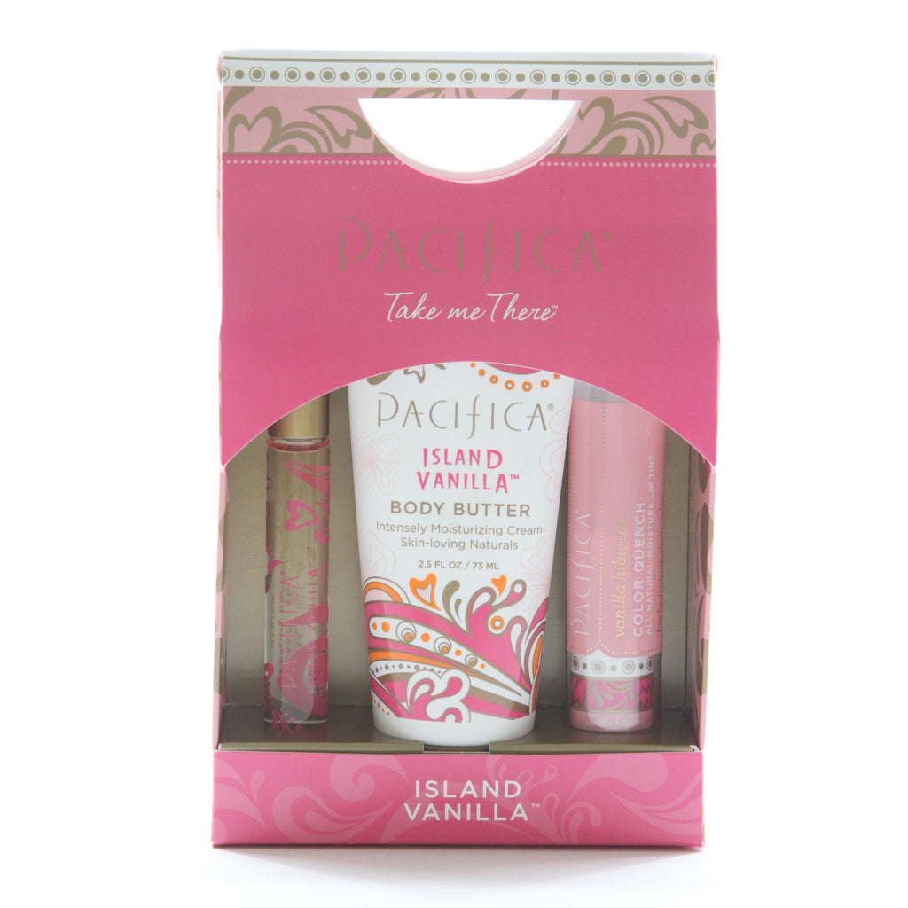 Pacifica Take Me There Set - Island Vanilla with Lip Quench - ArtsiHome