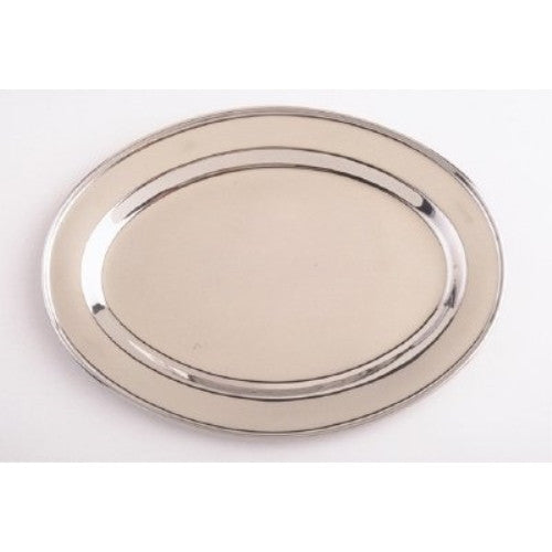 18 Inch Oval Stainless Steel Serving Platter - ArtsiHome
