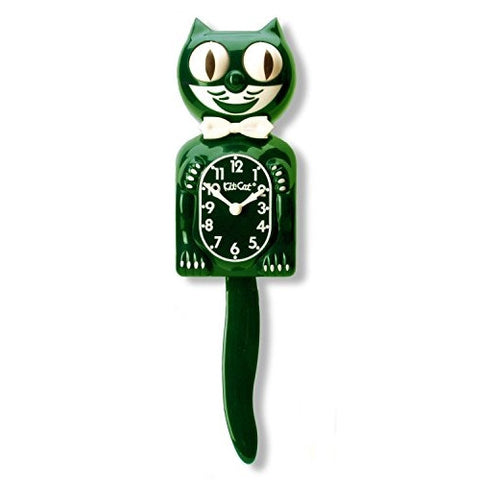 Limited Edition Hunter Green Kit-Cat Clock - ArtsiHome