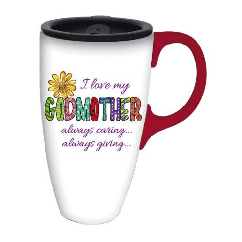 Cypress Home I Love My Godmother Latte Travel Mug (12 oz) - ArtsiHome