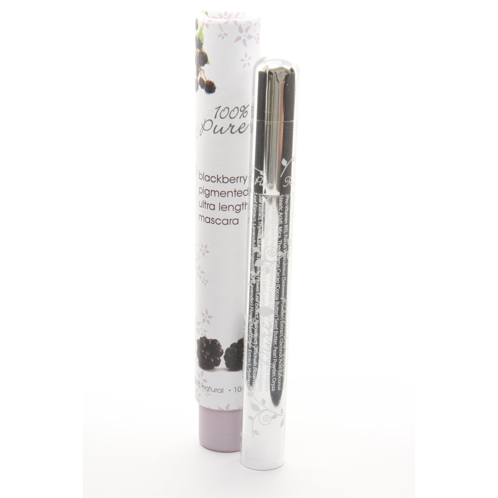 100% Pure Fruit Pigmented Ultra Lengthening All Natural Mascara, .24 oz. Blackberry (Black Purple) - ArtsiHome