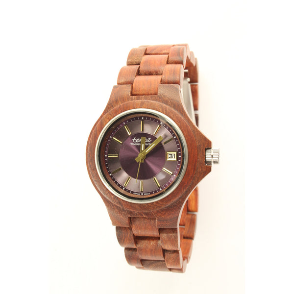 Tense Metro Watch Men's Woman natural wood (Rosewood and Maple) G4302R-V - ArtsiHome