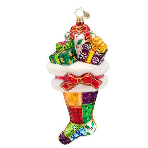 Christopher Radko - Presently Patched - Heirloom Collectable Christmas Ornament - ArtsiHome