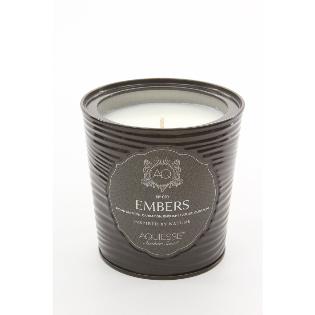 Aquiesse Portfolio Embers Scented Soy Candle in Tin (11 oz ) - ArtsiHome