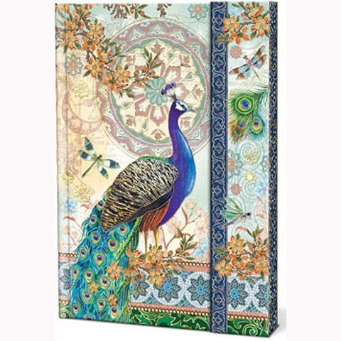 Royal Peacocks Punch Studio Magnetic Closure Journal - ArtsiHome