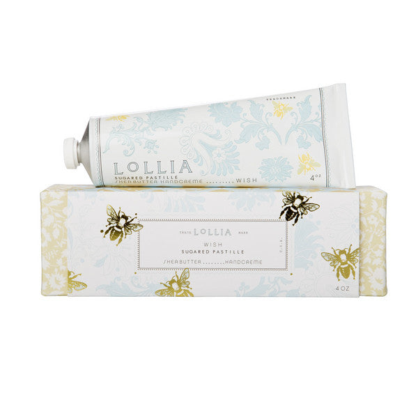 Lollia Wish Sugared Pastille Shea Butter Hand Creme - 4 oz. - ArtsiHome