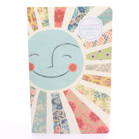 Molly & Rex Sunshine Patchwork Soft Cover Journal by Punch Studio - ArtsiHome