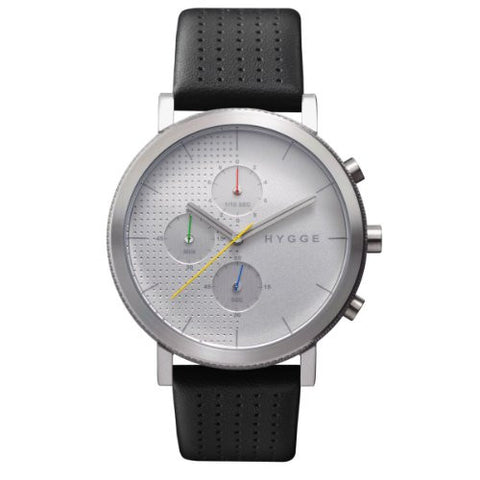 HYGGE Watch - 2204 Series - Leather - Silver/Silver - ArtsiHome