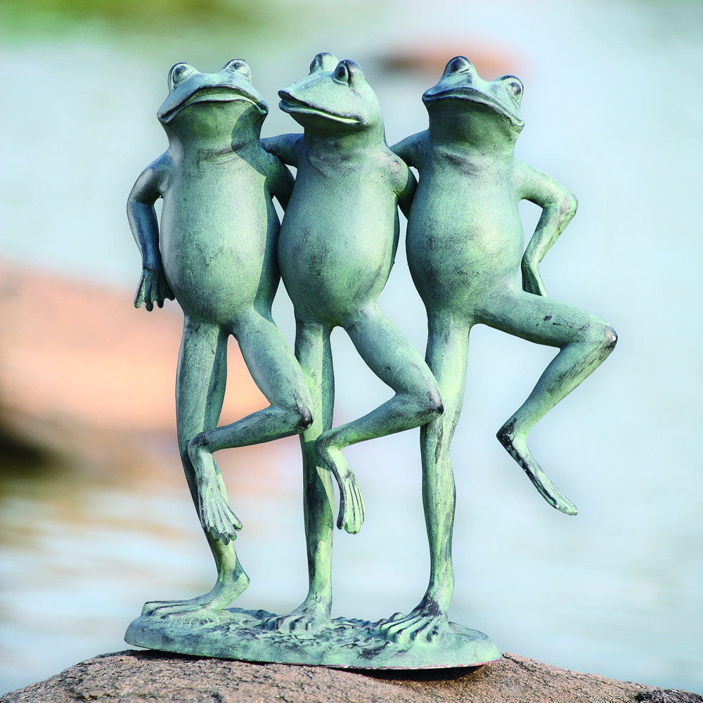 SPI Aluminum Dancing Frog Trio for Outdoors or Office - ArtsiHome