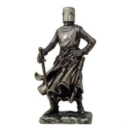 Crusader Knight Statue Bronze Finishing Cold Cast Resin Statue 7 (8710) - ArtsiHome