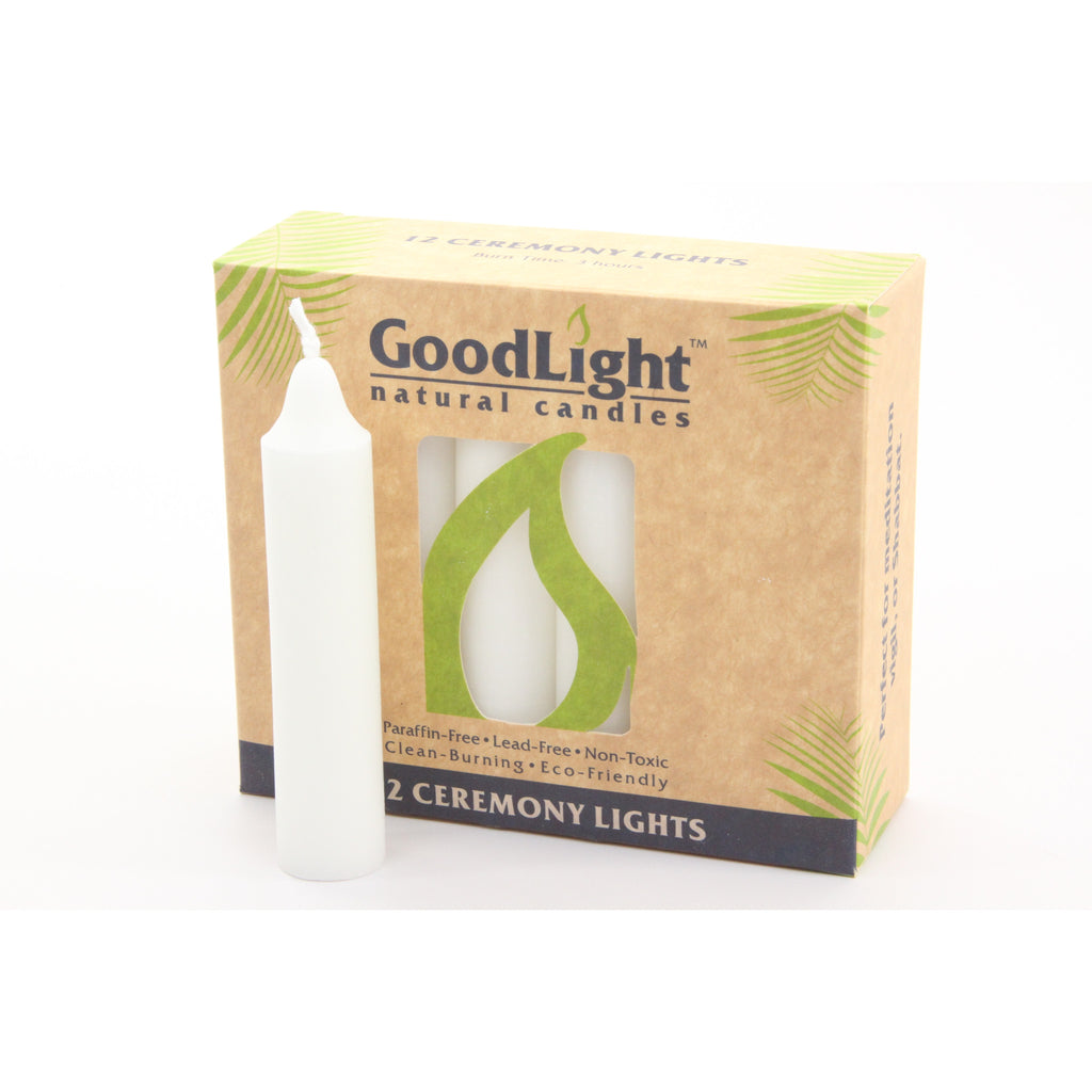 Good Light Ceremony Candles (12 Count Package) Non-Toxic and 100% Palm Wax - ArtsiHome