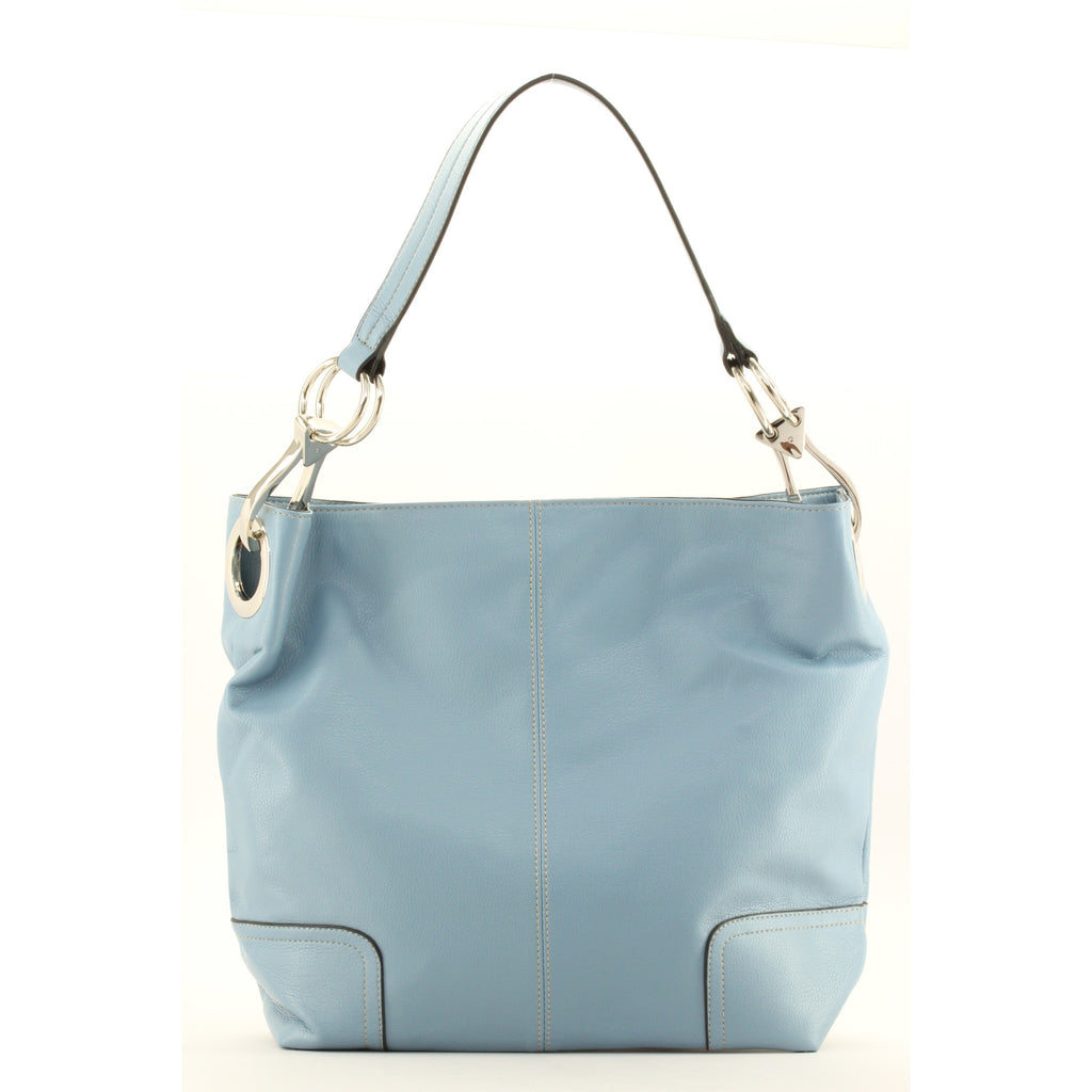 New Tosca Handbag, Purse Bucket Style Shoulder Bag Leather Look, 641 Color Blue - ArtsiHome - Tosca - 19