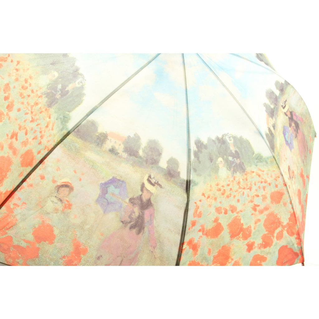 Galleria Monet Poppy Field Auto Stick Umbrella (Poppy Field) - ArtsiHome