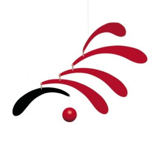 Flensted Mobiles Nursery Mobiles, Flowing Rhythm, Red - ArtsiHome