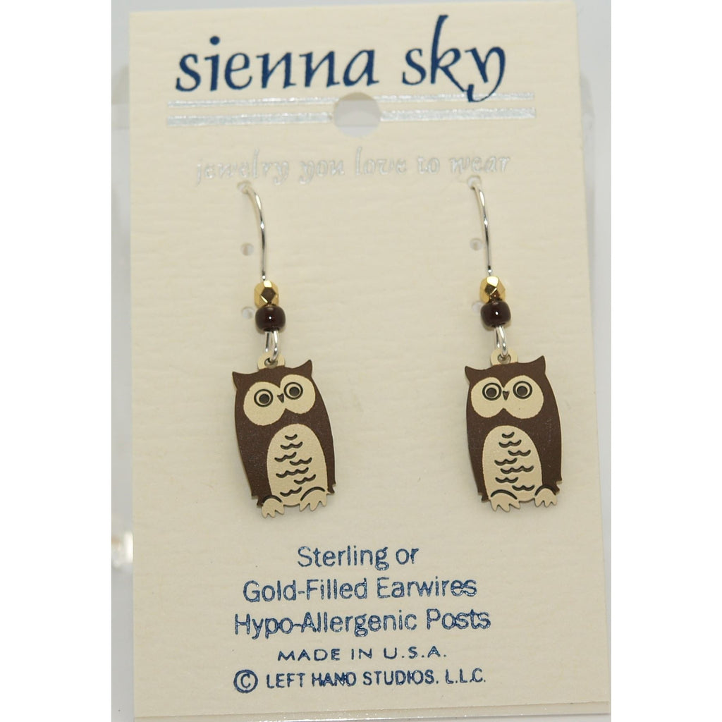Sienna Sky Wise Old Owl Earrings - ArtsiHome