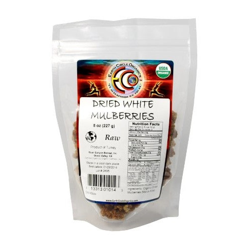 Earth Circle Organics White Mulberries Organic Raw -- 8 oz - ArtsiHome