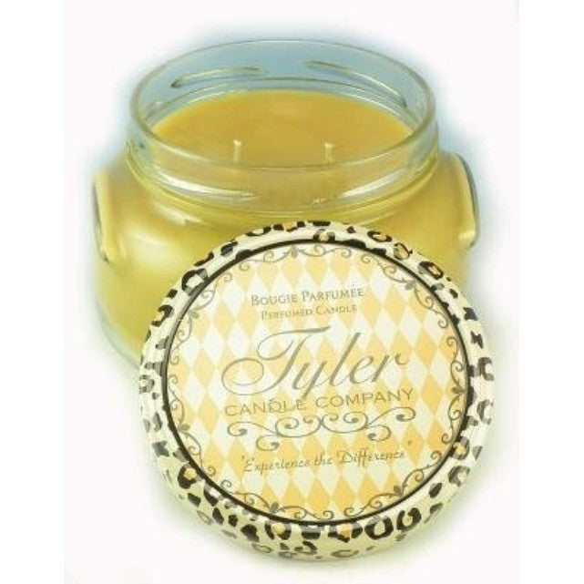 Tyler Two Wicks Glass Candle 22 Oz, Rich 24K Scent - ArtsiHome - Tyler