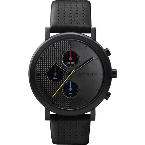 HYGGE Watch - 2204 Series - Leather - Black/Black - ArtsiHome