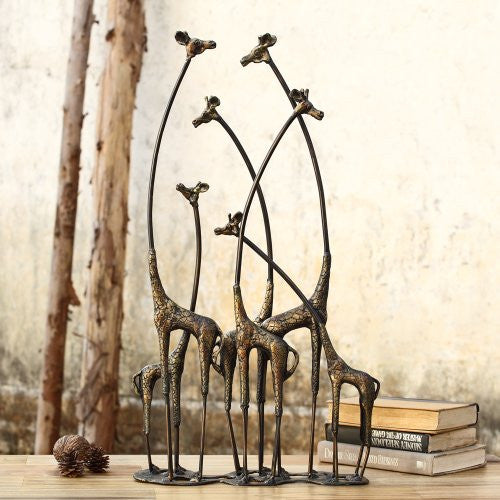 SPI Home Collection - Towering Giraffe Herd Statue - ArtsiHome - ArtsiHome