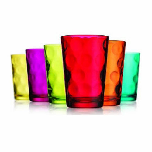 Eclipse Set Of 6 Colored Juice Glass - ArtsiHome