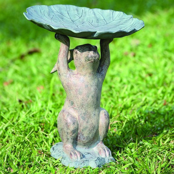 SPI Garden Collection Aluminum Rabbit Birdbath - ArtsiHome
