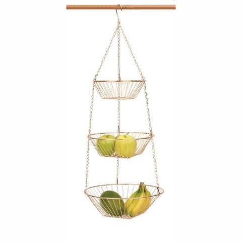 3-Tier Hanging Baskets – Copper Wire - ArtsiHome