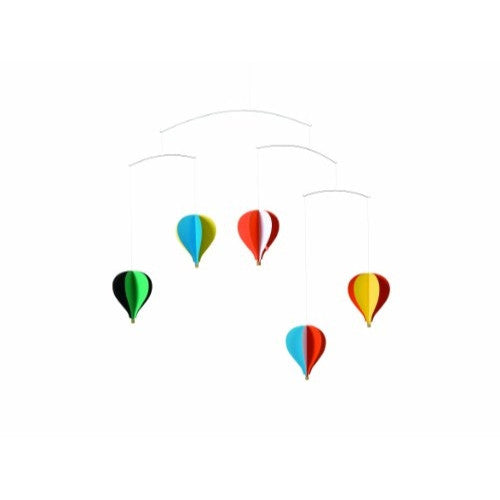 Flensted Mobiles Nursery Mobiles, 5 Balloon Mobile - ArtsiHome