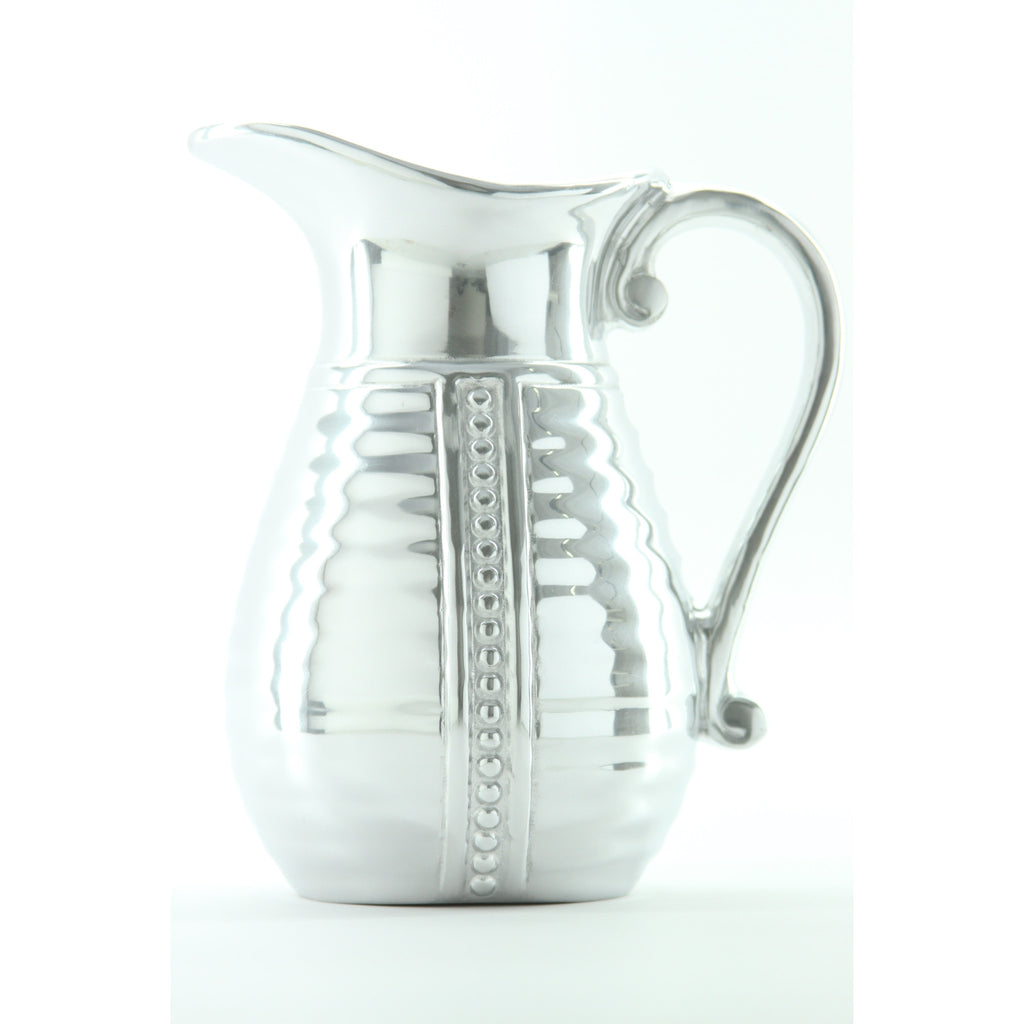 Wilton Armetale Flutes and Pearls Beverage Pitcher, 4-Inch by 8-Inch, 2-Quart - ArtsiHome - Wilton Armetale - 11