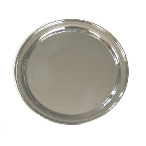 16 Inch Round Stainless Steel Serving Tray - ArtsiHome