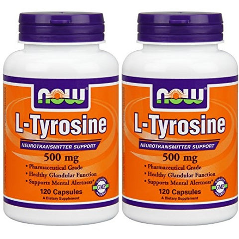 L-Tyrosine 500 mg 120 Capsules (Pack of 2) - ArtsiHome