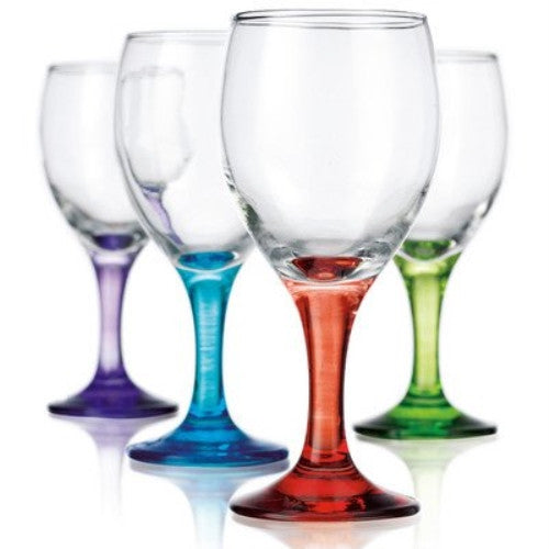 Carnival 10 Oz. White Wine Glass (Set Of 4) - ArtsiHome