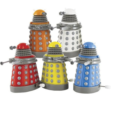 (Set of Five) Doctor Who Dalek Collector:BBC Series Wind Up Toy Adult Collectible - ArtsiHome