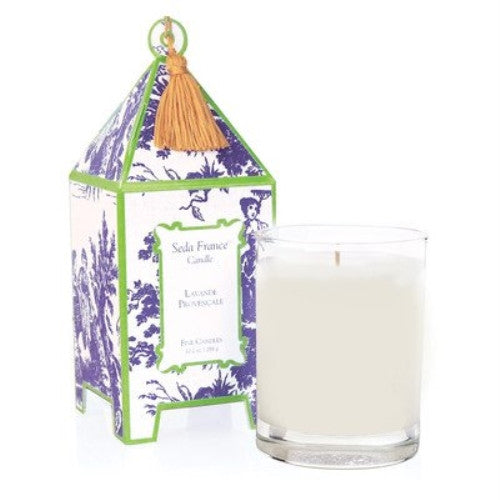 Classic French Lavender Pagoda Candle (10 oz) - ArtsiHome