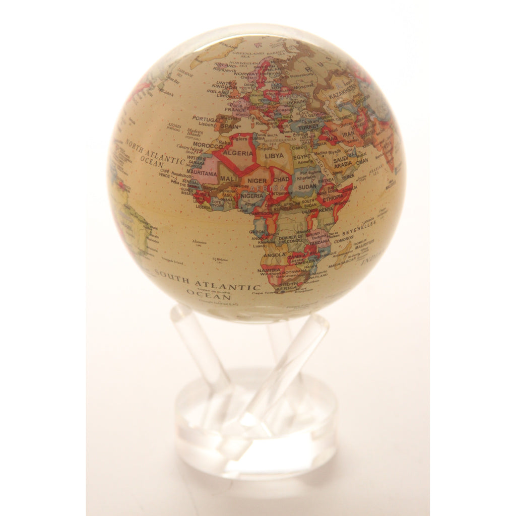 4.5 in. Antiqued Globe - ArtsiHome
