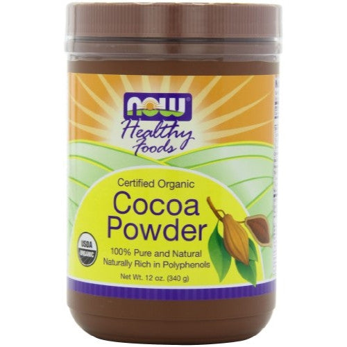 NOW Foods Organic Cocoa Powder Pure,  12 Ounce Can (Pack of 4) - ArtsiHome