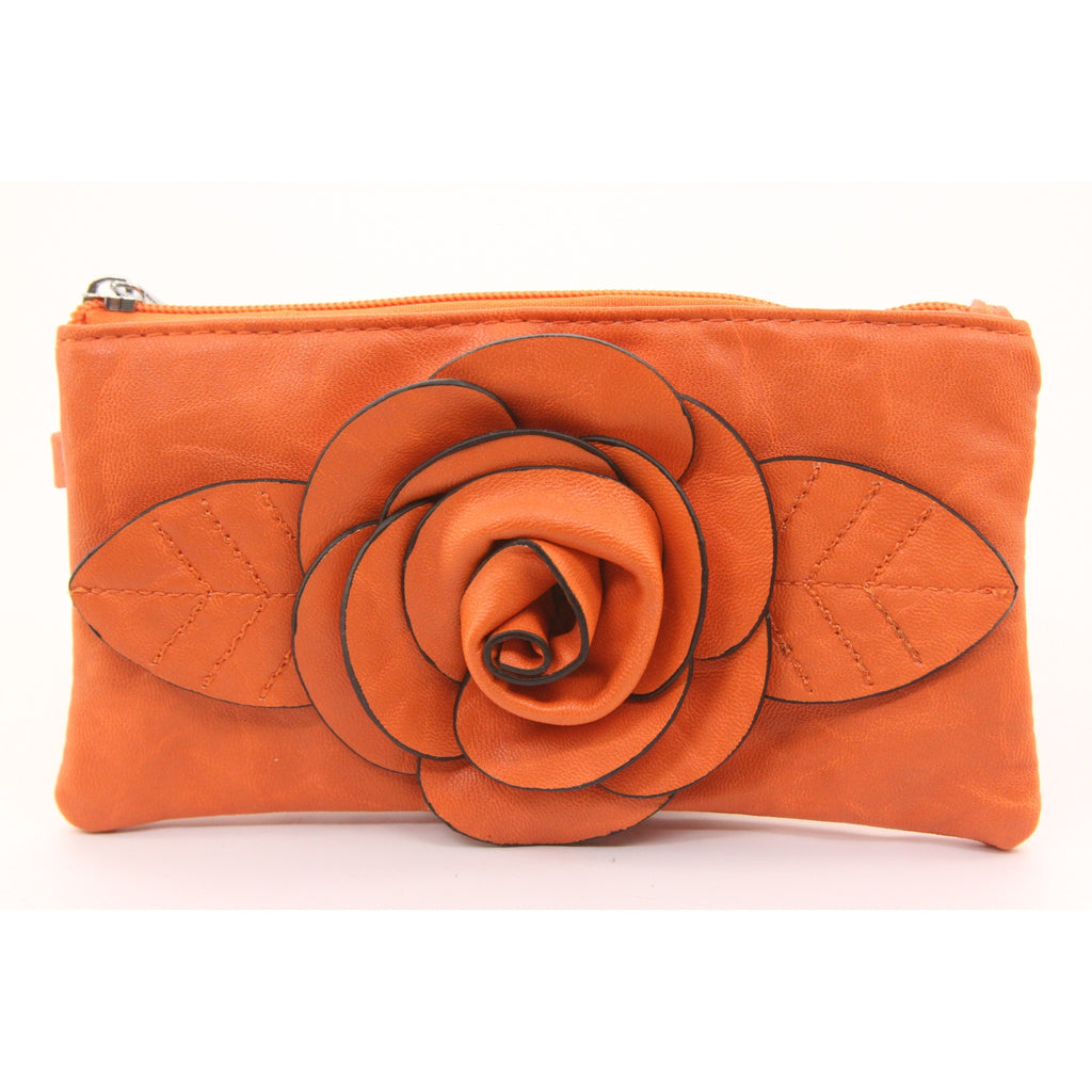 Mellow World Audrey Poppy Wristlet Wallet (Orange) - ArtsiHome