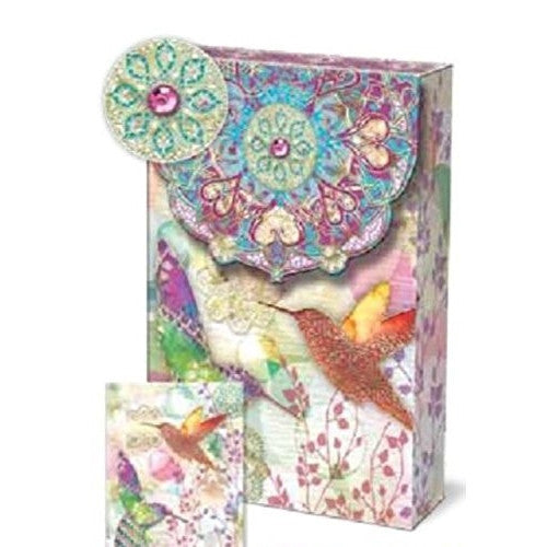 Punch Studio Decorative Pouch Note Cards Floraculture - ArtsiHome