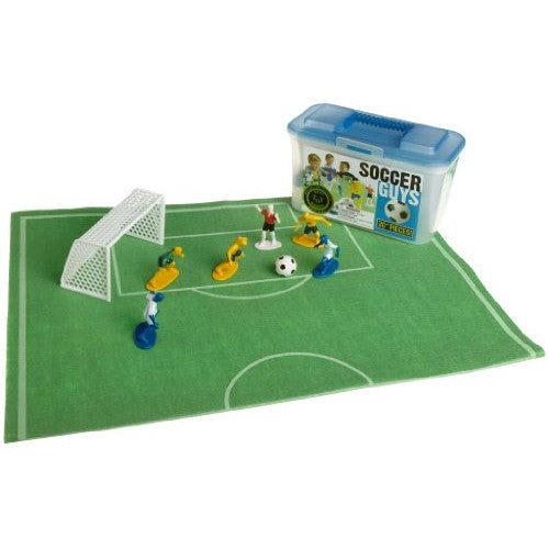 Kaskey Kids Soccer Guys Play Set w/ Felt Mat - ArtsiHome - Kaskey Kids