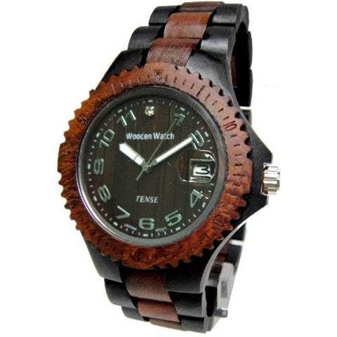 Tense Men's Sports Watch (Light/Dark Rosewood) - ArtsiHome