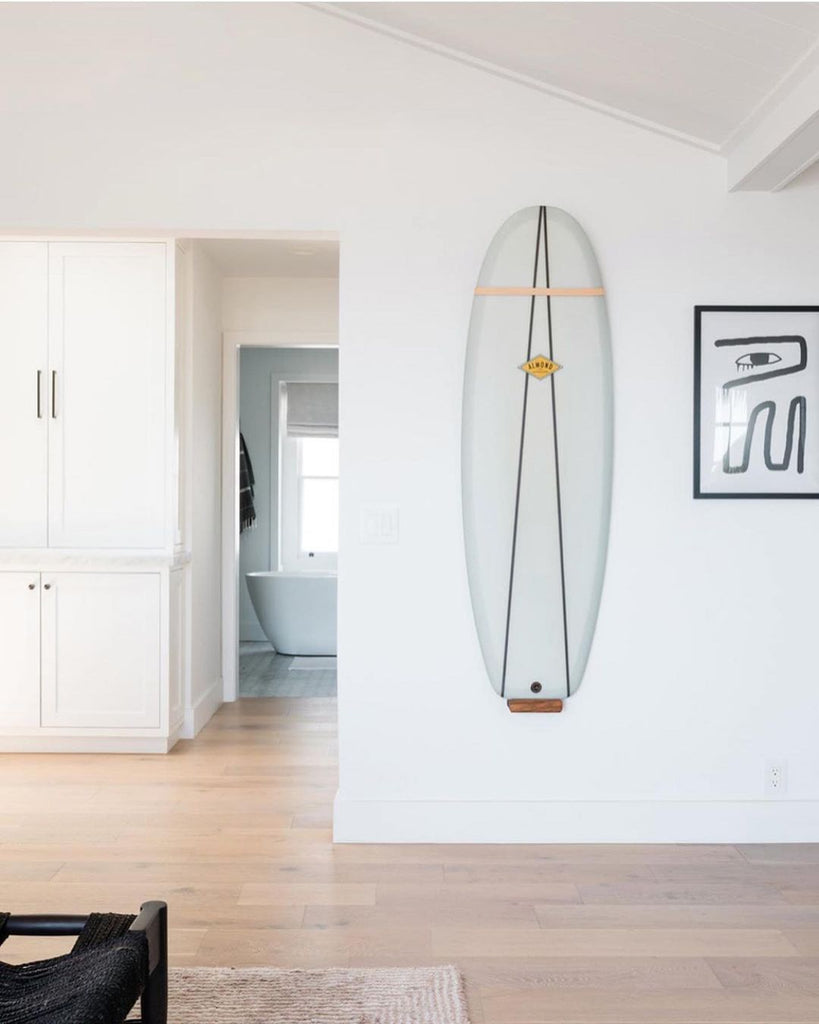 Surfboard Wall Rack Crafted for Surf Shacks - Vertical