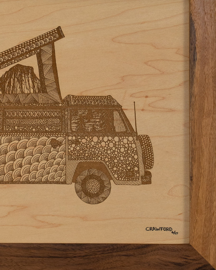 Limited Edition VW Bus Art for Yosemite Climbers & Lovers