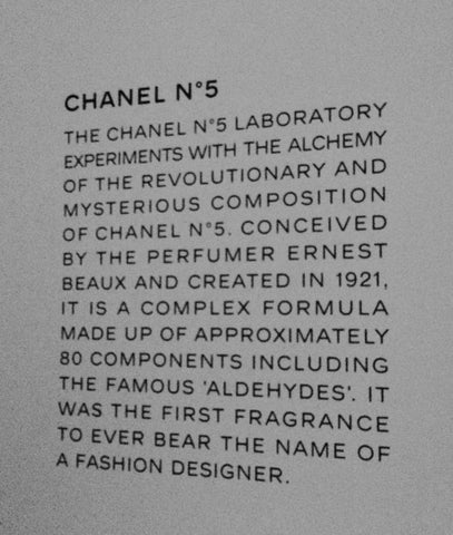 Chanel Mademoiselle Privé Exhibition - London. The Making of Chanel No. 5