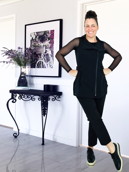 MANHATTAN BLK TUNIC
