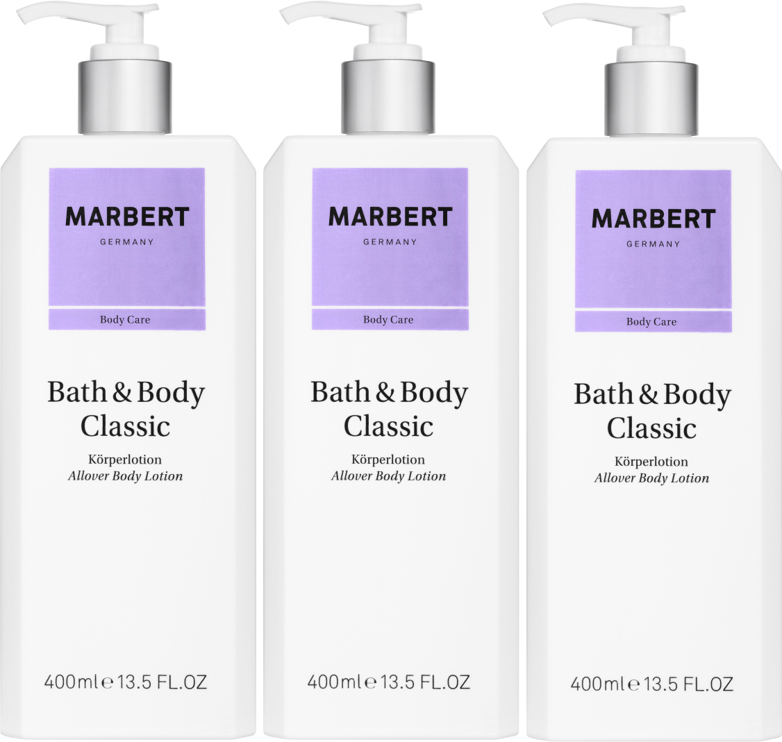 MARBERT BATH & BODY CLASSIC PAKKET 3X BODY LOTION 400 ML